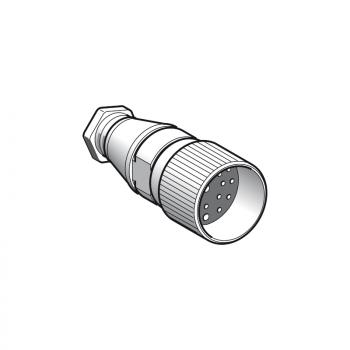 ženski, M23, 19-pinski, ravni konektor - kablovska uvodnica Pg 13.5