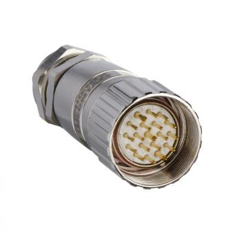muški, M23, 19-pinski, ravni konektor - kablovska uvodnica Pg 13.5