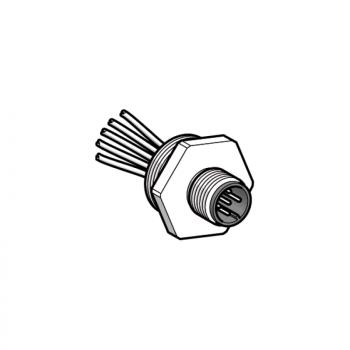 adapter, plastični - uvodnik Pg 13.5 - za muški konektor, M12, 4-wire