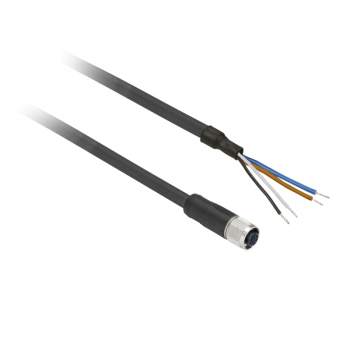 ožičen konektor XZ - ravni ženski - M12 - 5-pinski - kabl PUR 2m