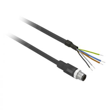 ožičen konektor XZ - ravni muški - M12 - 4-pinski - kabl PUR 2m