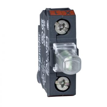 beli svetlosni blok za glavu Ø22 integrisan LED 230..240 V - vijčani priključak