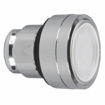bela udubljena glava svetlećeg tastera Ø22 sa povratkom za integrisan LED