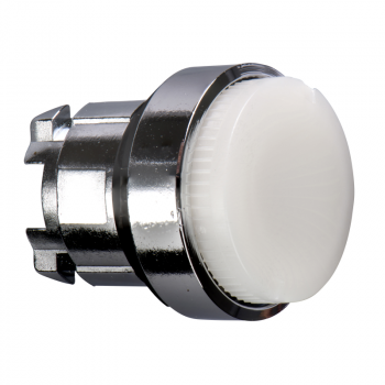 bela izbočena glava svetlećeg tastera Ø22 bez povratka za integrisan LED