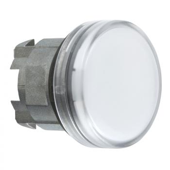 bela glava signalne lampice Ø22 ravna sočiva za integrisan LED