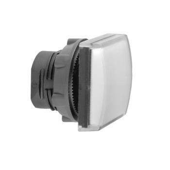 bela kvadratna glava signalne lampice Ø22 ravna sočiva za integrisan LED