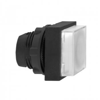 bela kvadratna izbočena glava svetlećeg tastera Ø22 sa povratkom za integr. LED