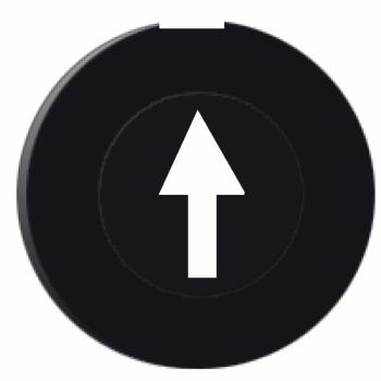 crni poklopac označen strelicom nagore - kružni nesvetleći taster Ø16