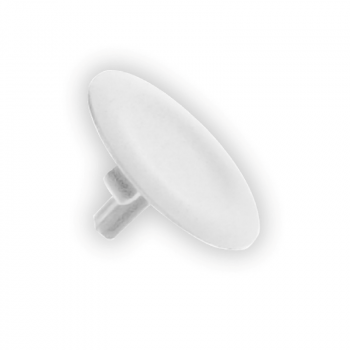 beli neoznačeni poklopac za okrugli taster Ø22