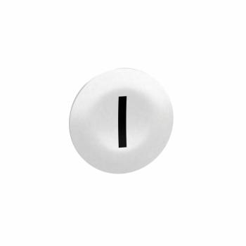 bela označena kapica za pravougaone tastere i glave sa više tastera Ø22