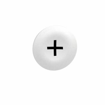 bela oznaka + za pravougaoni taster sa više glava Ø22
