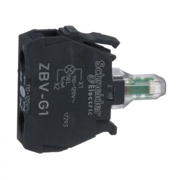 beli svetlosni blok za glavu Ø22 integrisan LED 110...120V vijčani priključak