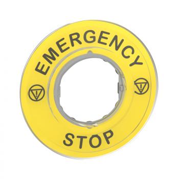 oznaka Ø60 za nužno isključenje - nužno isključenje/logo ISO13850