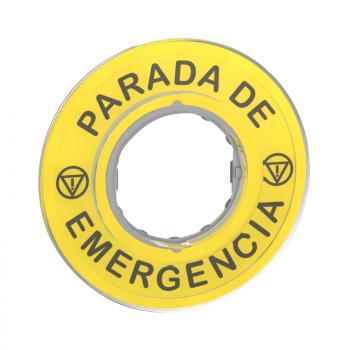 oznaka Ø60 za nužno isključenje -PARADA DE EMERGENCIA/logo ISO13850
