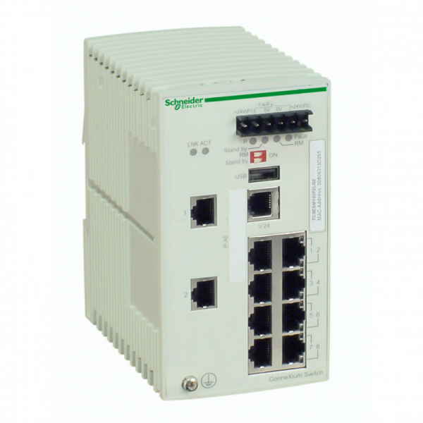 Ethernet TCP/IP upravljivi switch-ConneXium-8 portova bak.+2 za optičke kablove