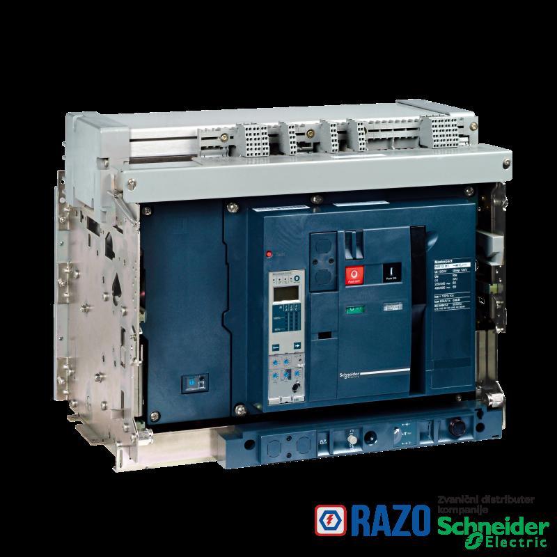 prekidač Masterpact NW12H2 - 1250 A - 4P - izvlačivi - bez zaštitne jedinice