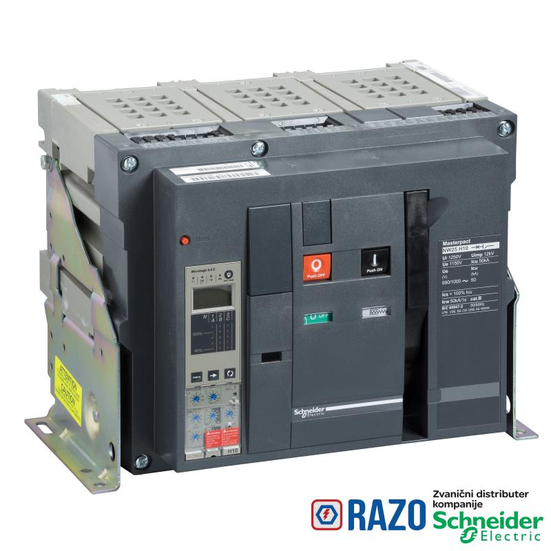 prekidač Masterpact NW16H1 - 1600 A - 3P - izvlačivi - bez zaštitne jedinice
