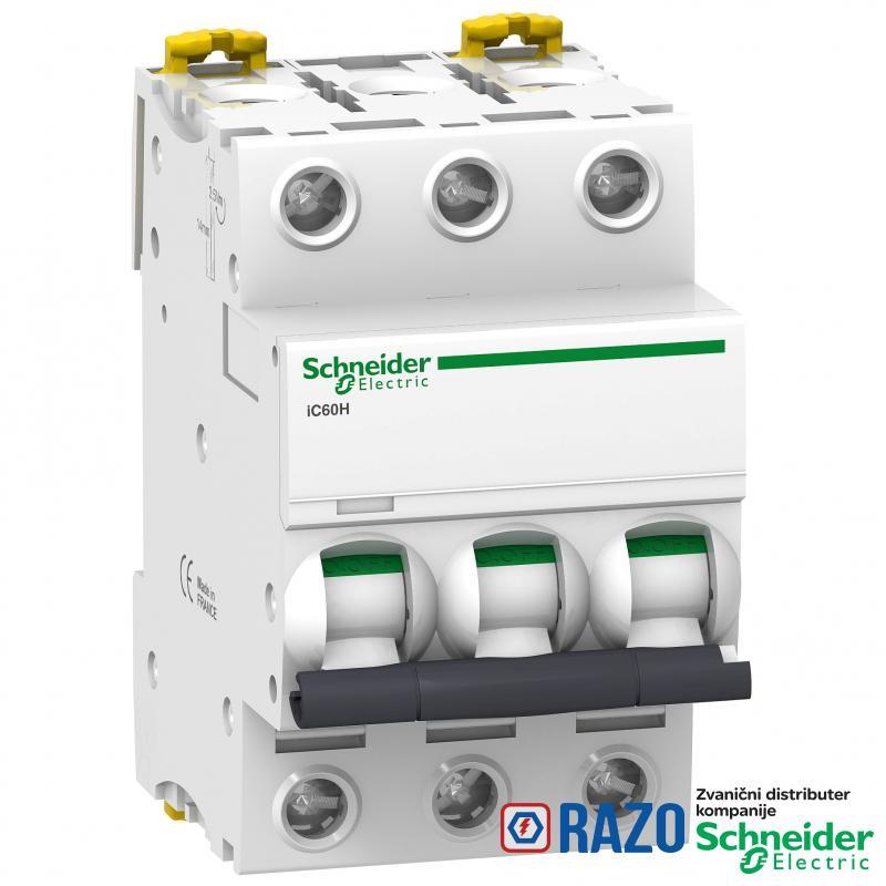 iC60H - automatski prekidač - 3P - 0.5A - C kriva