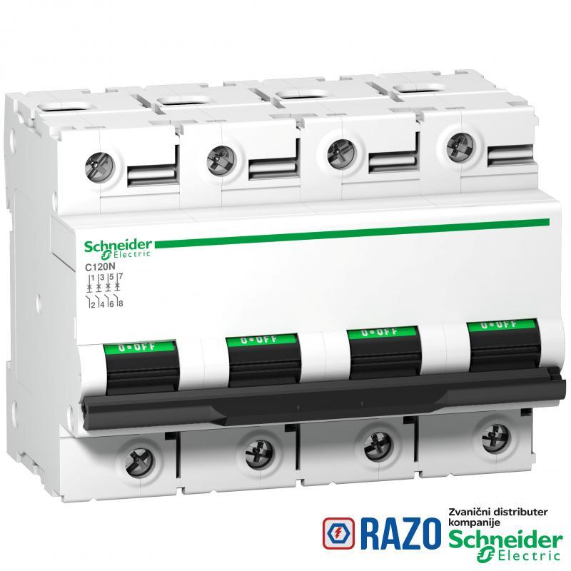 C120N - automatski prekidač - 4P - 100A - C kriva