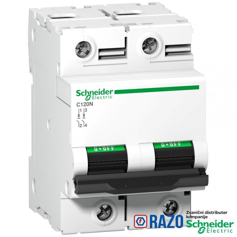 C120N - automatski prekidač - 2P - 100A - D kriva
