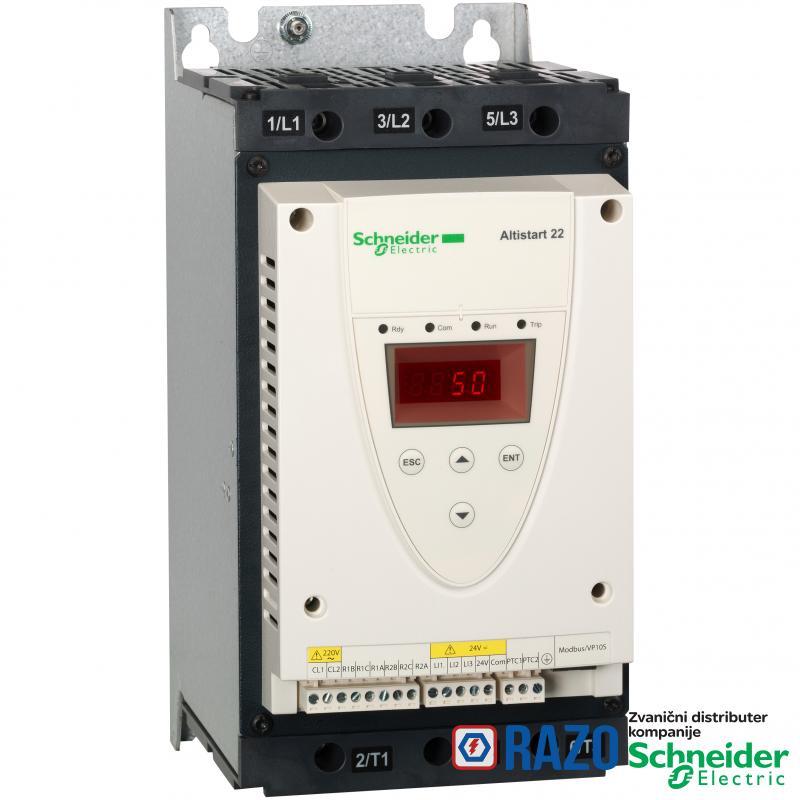 soft starter-ATS22-kontrolni napon 220V-napajanje 230V(22kW)/400...440V(45kW)
