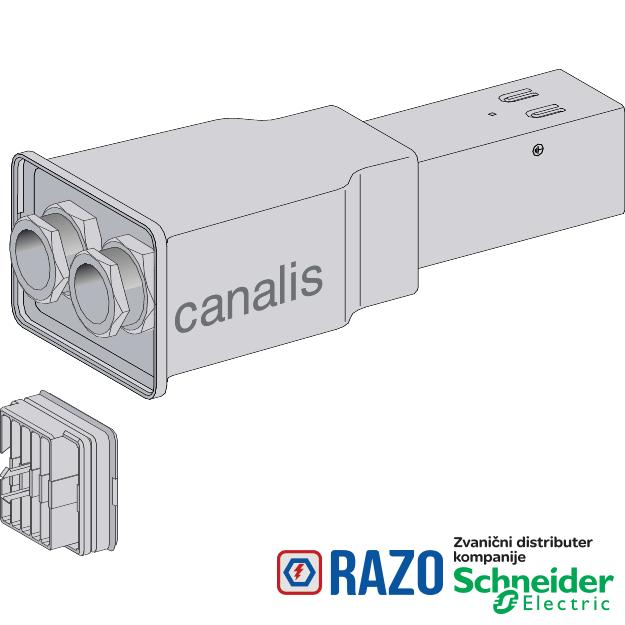 Canalis -napojna jedinica za KBB- 40A - leva montaža-2 kola - DALI kompatibilan