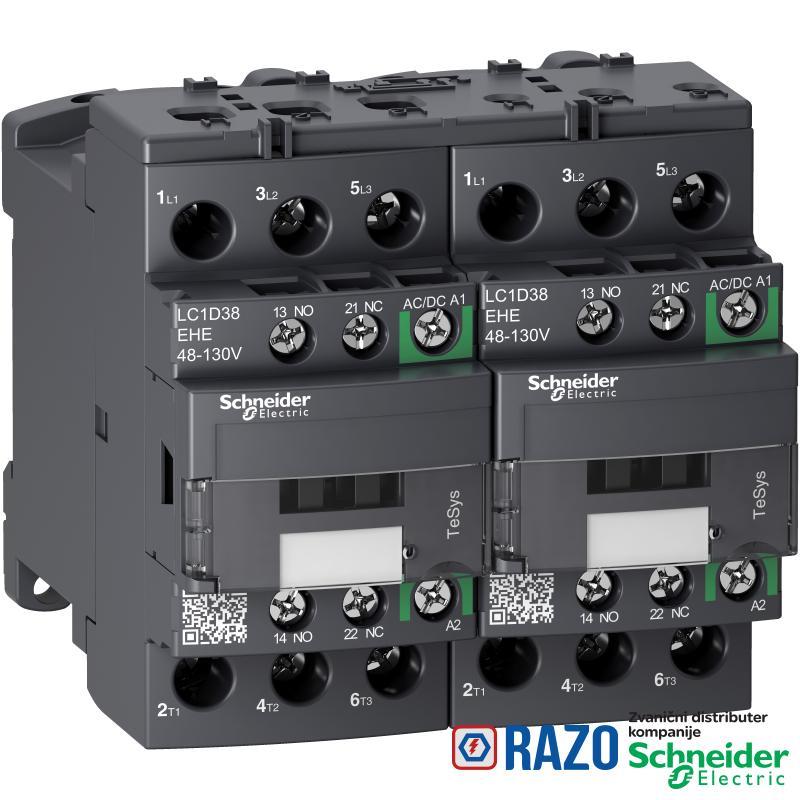 TeSys D kontaktor za promenu smera-3P-<=440V-38 A AC-3-48...130V AC/DC kalem