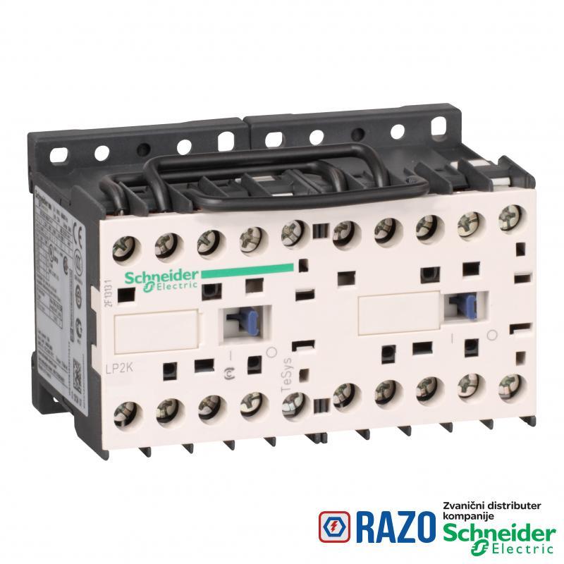 TeSys K kontaktor za prom. smera- 3P(3NO)- AC-3 - <= 440 V 12 A - 24 V DC kalem