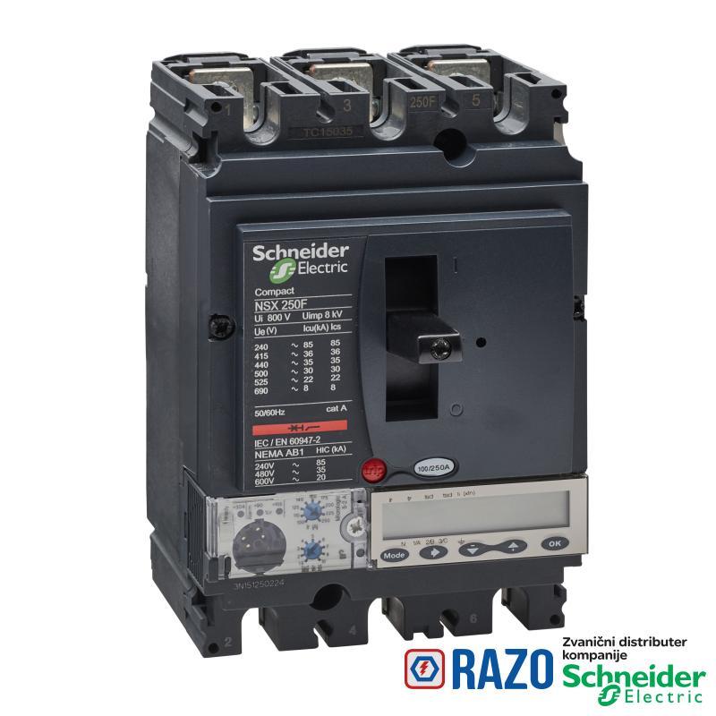 prekidač Compact NSX250F - Micrologic 5.2 A - 250 A - 3P 3d