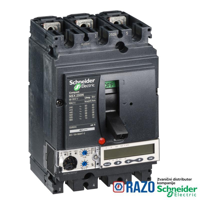 prekidač Compact NSX250N - Micrologic 5.2 A - 250 A - 3P 3d