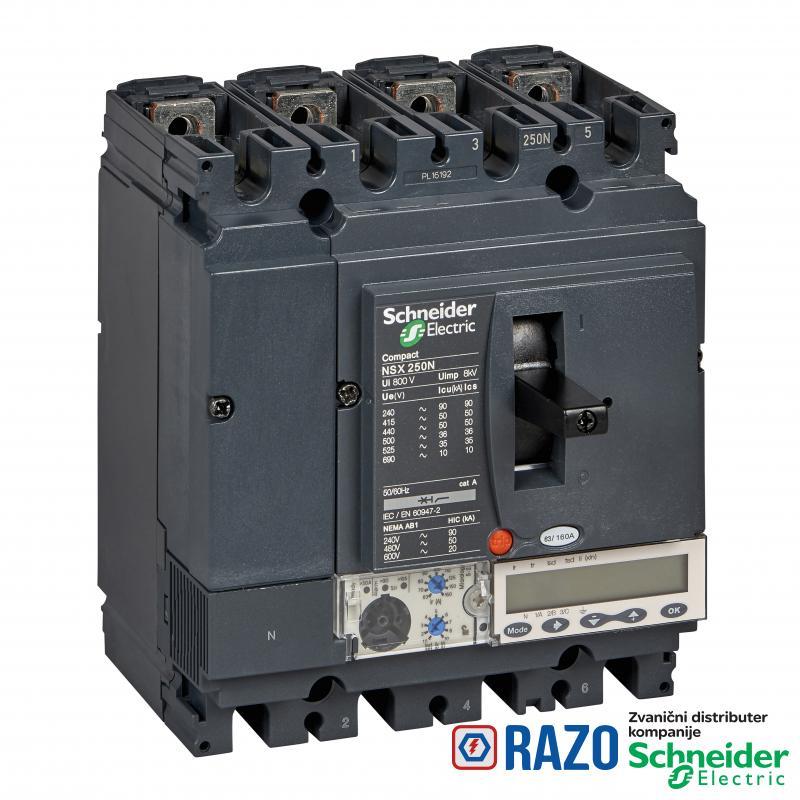 prekidač Compact NSX250N - Micrologic 5.2 A - 250 A - 4P 4d