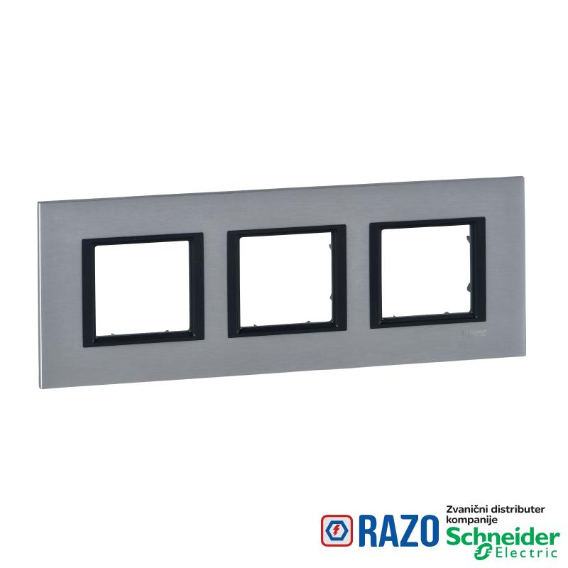 Unica Class - dekorativni ram - trostruki - led aluminijum