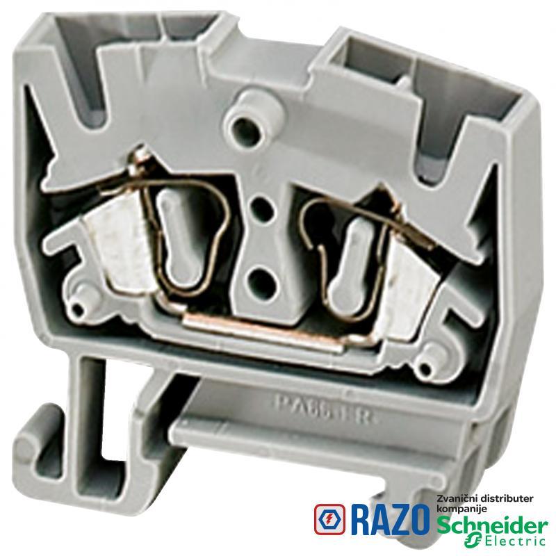 Linergy mini stand. redna stezaljka - 2.5mm² 24A jednostruka 1x1 opružna - plava