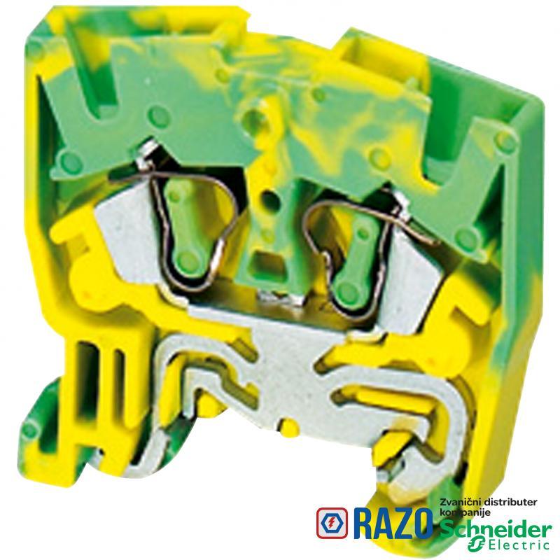 Linergy mini red.stezaljka za uzemlj.-2.5mm² jednostruka 1x1 opružna-zeleno-žuta