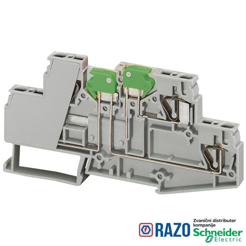 Linergy stezaljka sa rastavljačkim komponentama-2.5mm² 16A dvostruka 1x1 opružna
