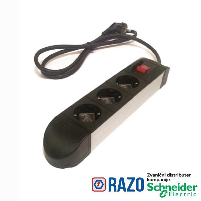 Multip produžni kabl sa prekidačem 3G/3m