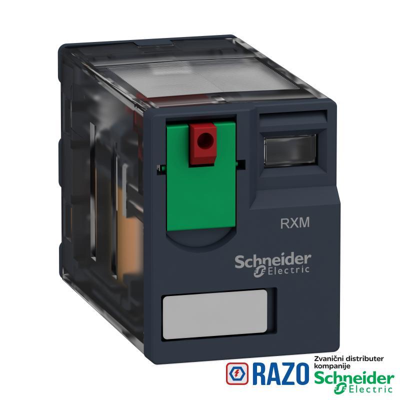 minijaturni utični relej - Zelio RXM 4 C/O 48 V AC 6 A