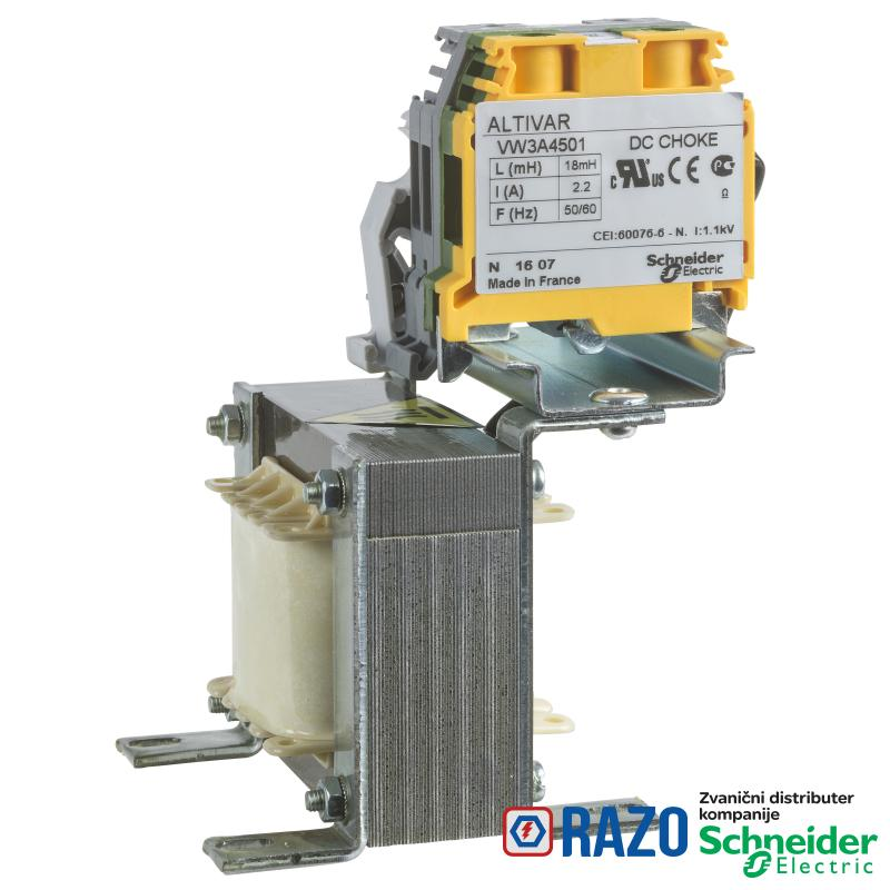 DC prigušnica - 3.9 mH - 10.7 A - za frekventne regulatore