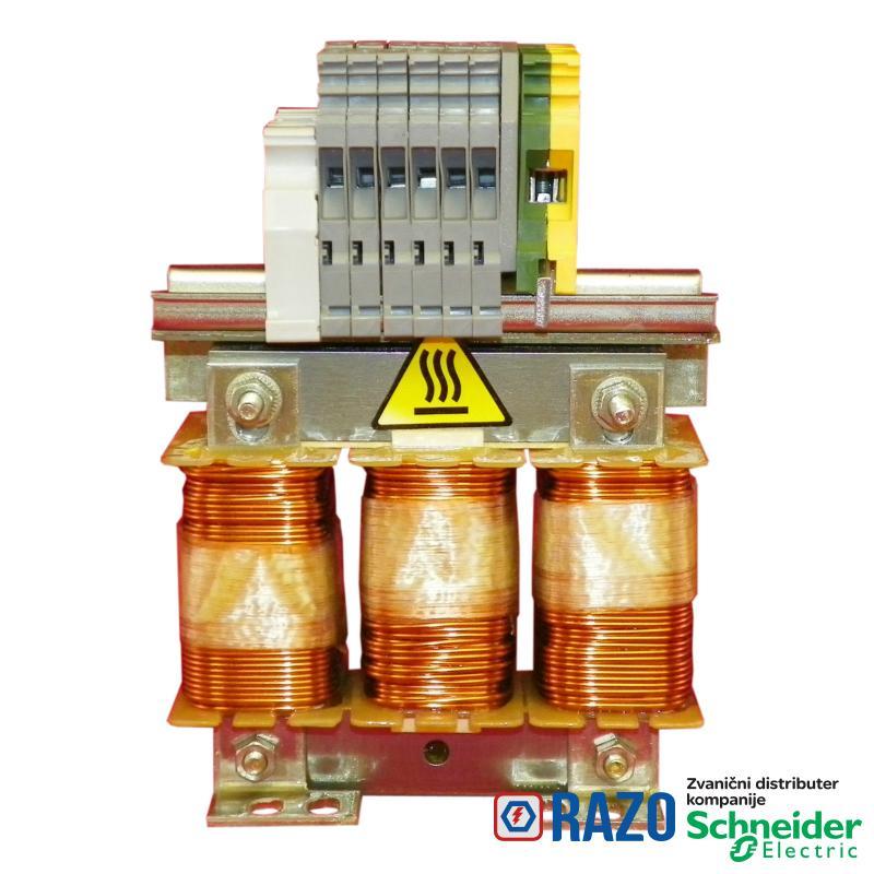 linijska/motorna prigušnica - 0.5 mH - 60 A - trofazna - 94 W -za fr. regulatore
