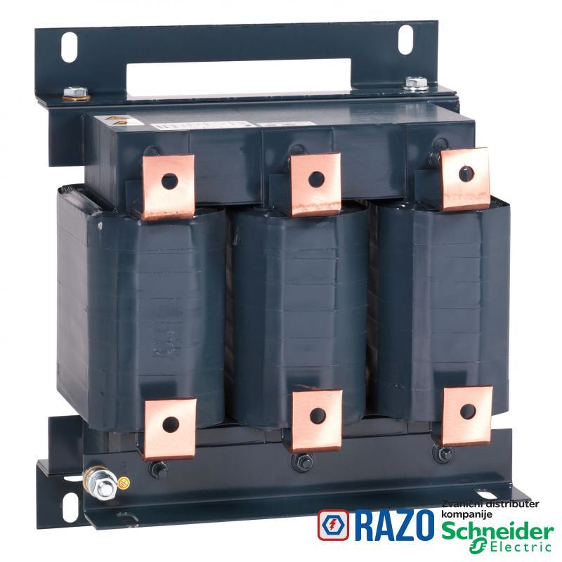 linijska prigušnica - 0.038 mH - 509 A - trofazna - 280 W - za fr. regulatore