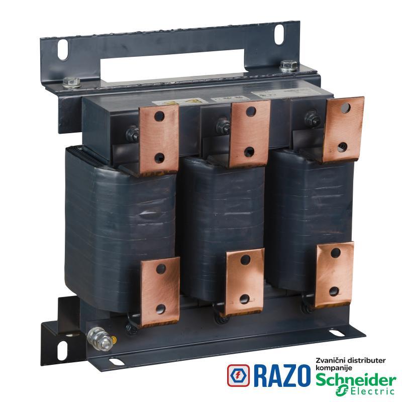 linijska prigušnica-0.032 mH - 720 A -trofazna- 428 W - za frekventne regulatore