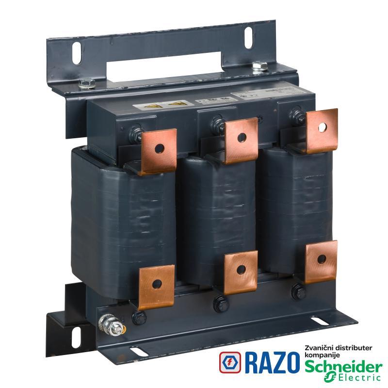 linijska prigušnica-0.085 mH - 300 A -trofazna- 315 W - za frekventne regulatore