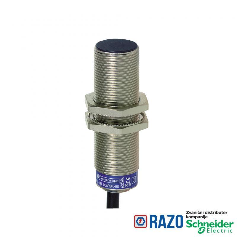induktivni senzor XS6 M18 - L62mm - mesing - Sn8mm - 24..240VAC/DC - kabl 2m