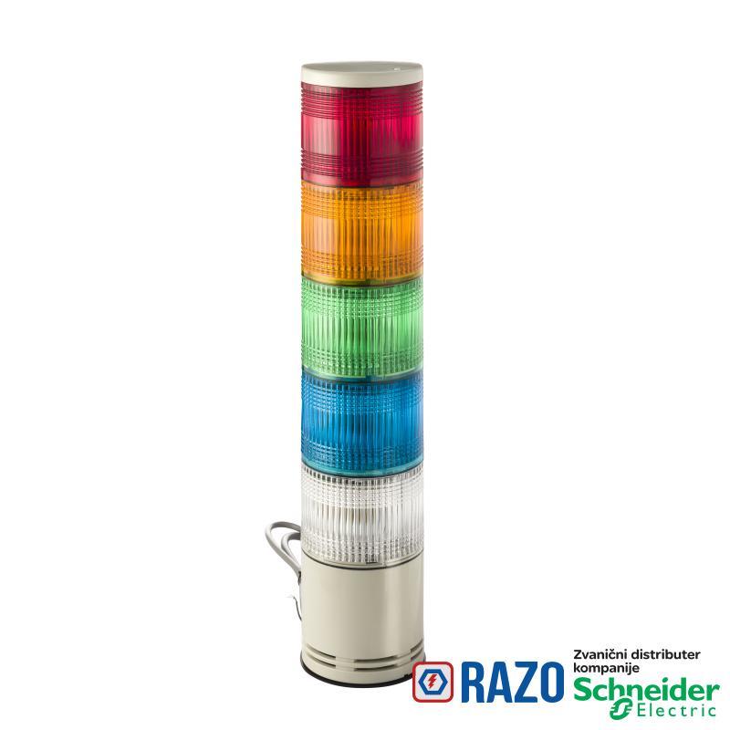 100mm svetlosna kolona CNZPB montaža na bazu