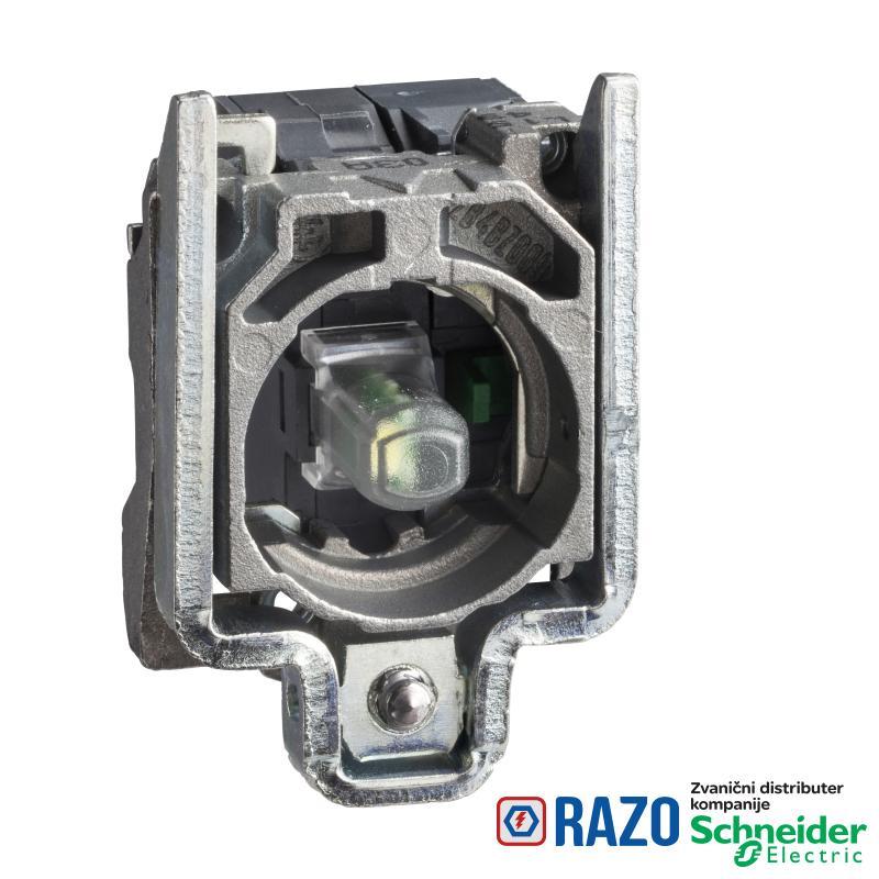 zeleni svetlosni blok sa montažnim elementom - integrisani LED 24V 1NO