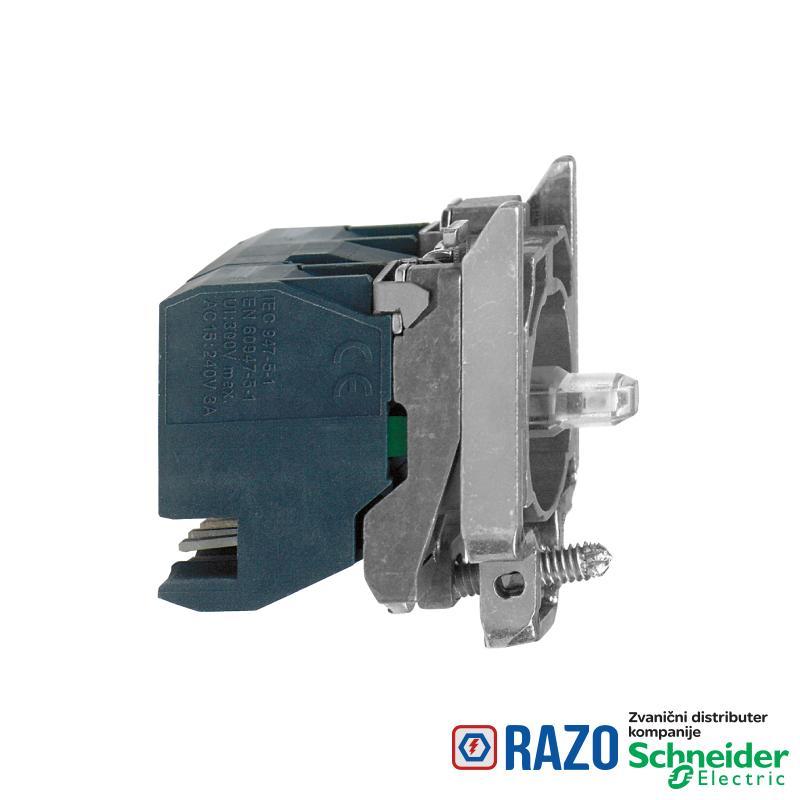 zeleni svetlosni blok sa montažnim elementom - integrisani LED 24V 1NO+1NC